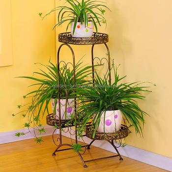 Display Garden Decorate Plant Flower Pot Metal Iron Storage Stand