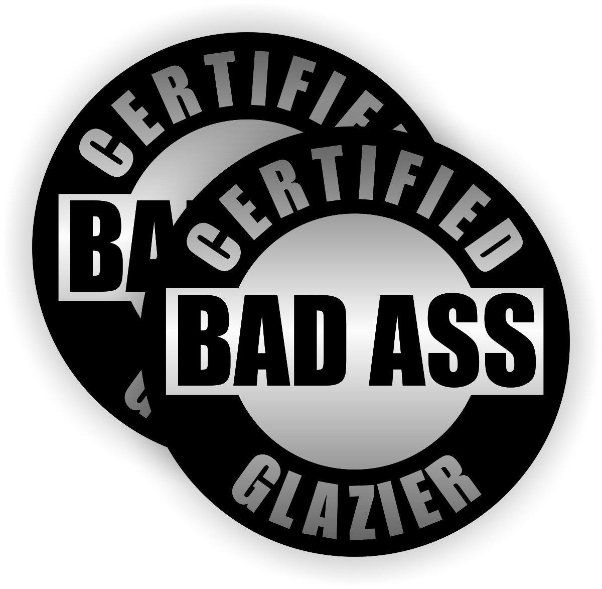 CERTIFIED BAD A$$ FORKLIFT DRIVER HELMET STICKER HARD HAT STICKER BLACK AND GREY