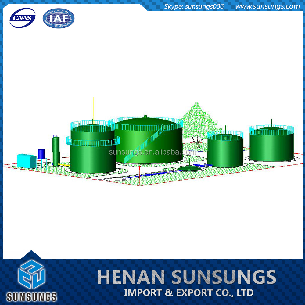 Best design bio septic tank for natural gas