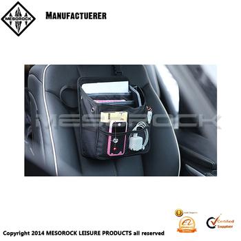 Compact Black Fabric Multi Pocket Car Truck Van SUV Organizer Front Seat