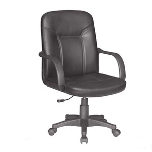 M&C popular best selling mid-back no folded pvc office visitor chair