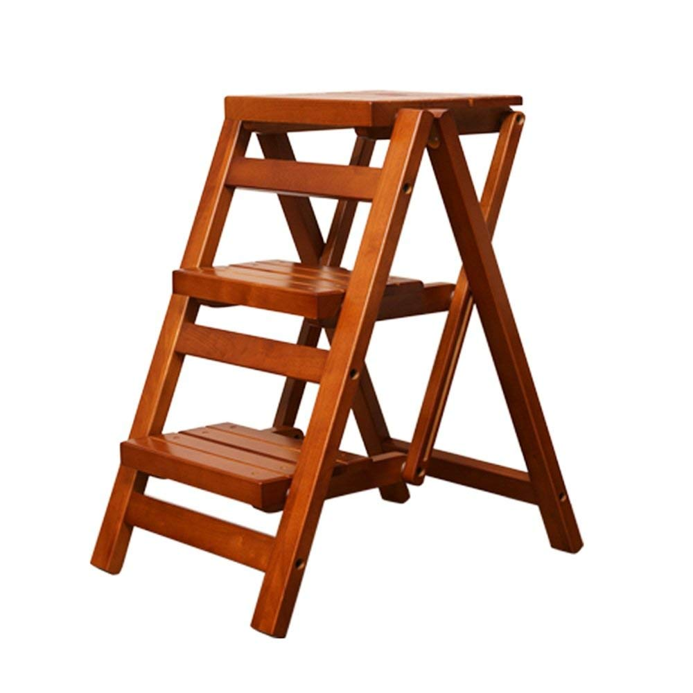Get Quotations Zxqz Step Stools Solid Wood Folding Stool Multifunctional Wooden Ladder Home Kitchen Small