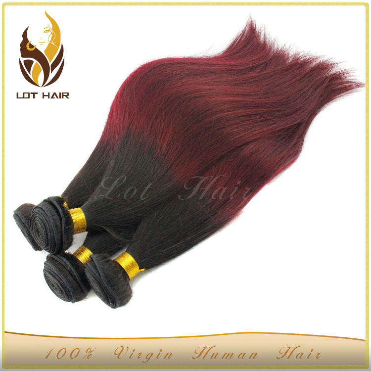 Factory Hot 5A Grade High Quality Cheap Wholesale Hair Weave Color 99J