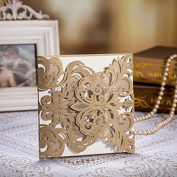 Sell Well Laser Cut Card/Luxury Wedding Card/Personalized Wedding Invitation Card