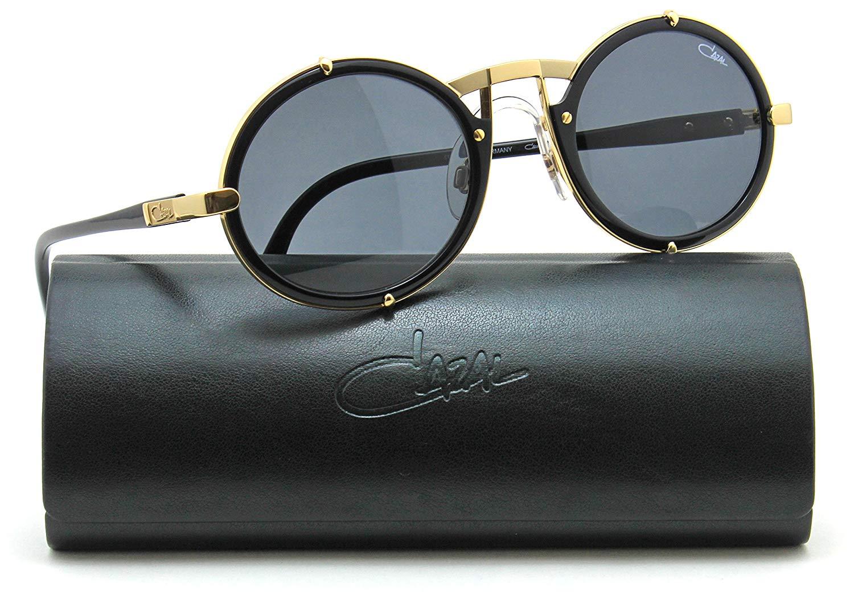 b6cafcea45 Get Quotations · Cazal 644 Vintage Unisex Round Sunglasses 001 - Black  w Gold