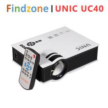 Original UNIC UC40+ LCD Mini Projector 800 Lumens Full HD Home theater VGA HDMI AV USB SD portable Video business Proyector