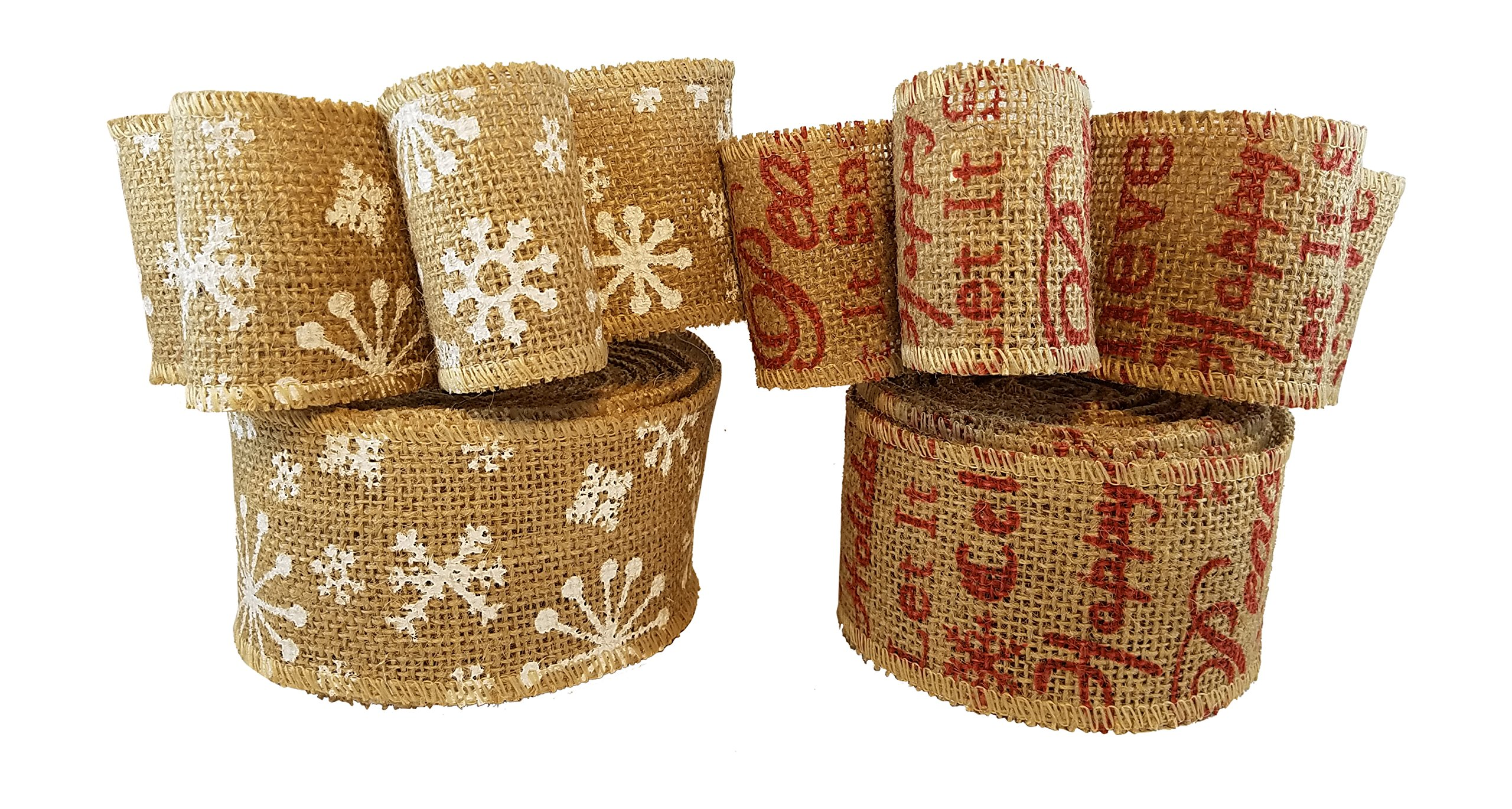get quotations christmas holiday burlap ribbon with wired edge decorate wreaths gift wrap christmas tree