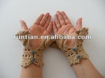 Mooie Breien Haken Hand Warmers Wanten Handschoenen Buy Gehaakte