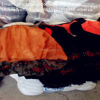2019 large amount material for used clothing/silk fashion blouse, african market used clothing