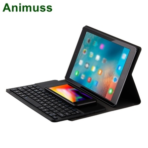 QI Cell Phone wireless charger keyboard for IOS Android Windows Tablet