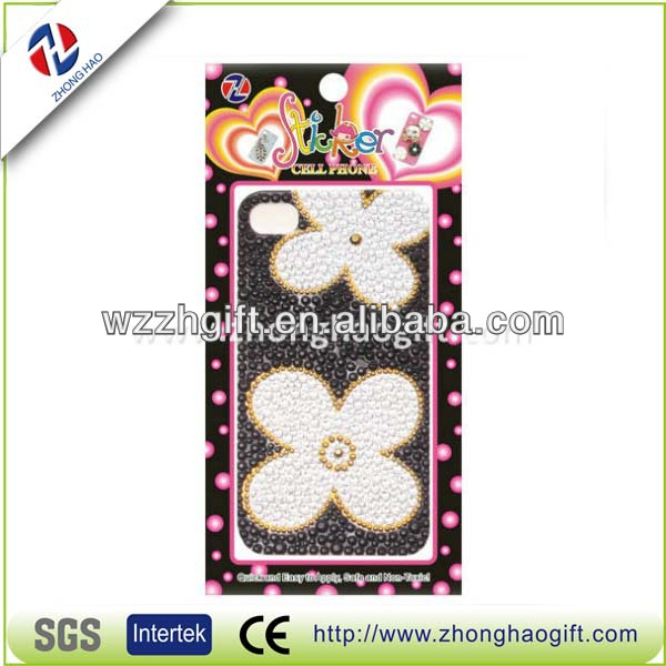 3D Diamond Sticker for Cell Phone Mobile Adorn Acrylic Phone Sticker