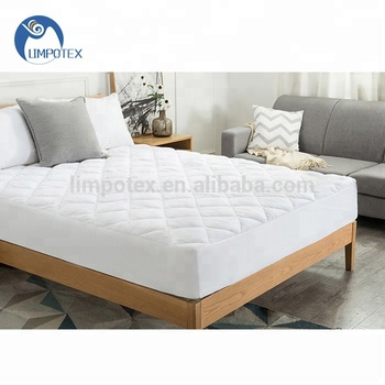 Luxury cheap polyester padding queen size mattress pad/topper for sale