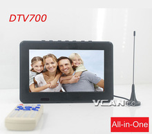 DTV700-DVBT2 7 zoll digital <span class=keywords><strong>TV</strong></span> receiver USB TF <span class=keywords><strong>mp5</strong></span> AV in Akku