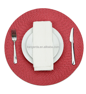 Customized red plastic placemat / pp desk pad mat table mat
