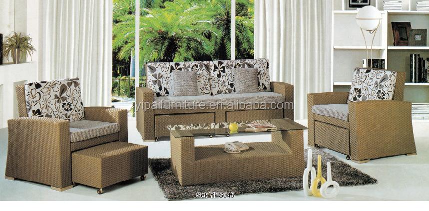 outdoor indoor sofa leisure style rattan sofa set restaurant sofa with  cushion YPS051 - Outdoor Indoor Sofa Leisure Style Rattan Sofa Set Restaurant Sofa