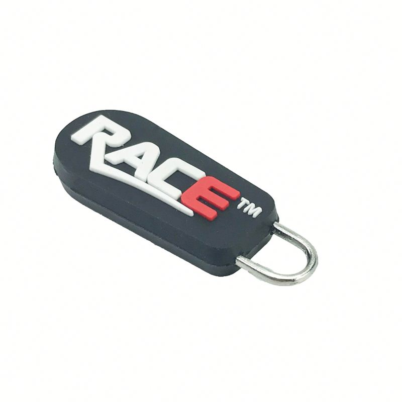 Wholesale Design Decorative Personalized PVC Plastic Custom Zipper Pull