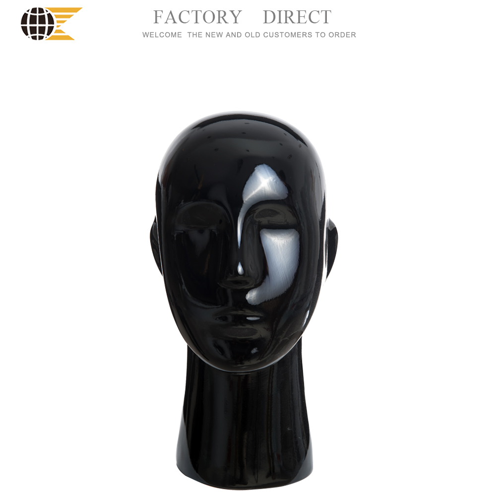 wholesale abstract head mannequin black mannequin head model TE-4B