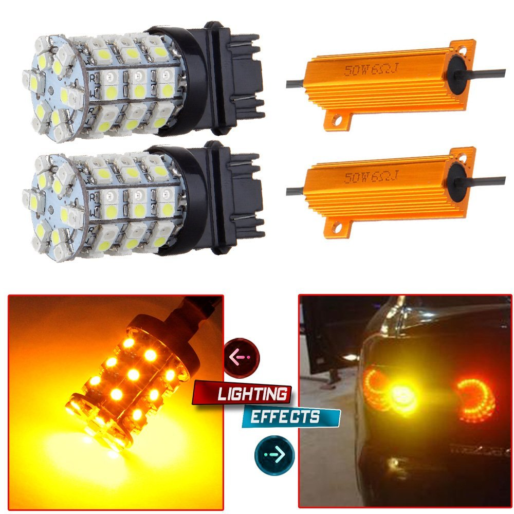 Cheap Led Drl Turn Signal Find Deals On Line At Switch Back Wiring Get Quotations Cciyu 2 Pack White Amber 3157 60smd Dual Color Switchback Bulbs
