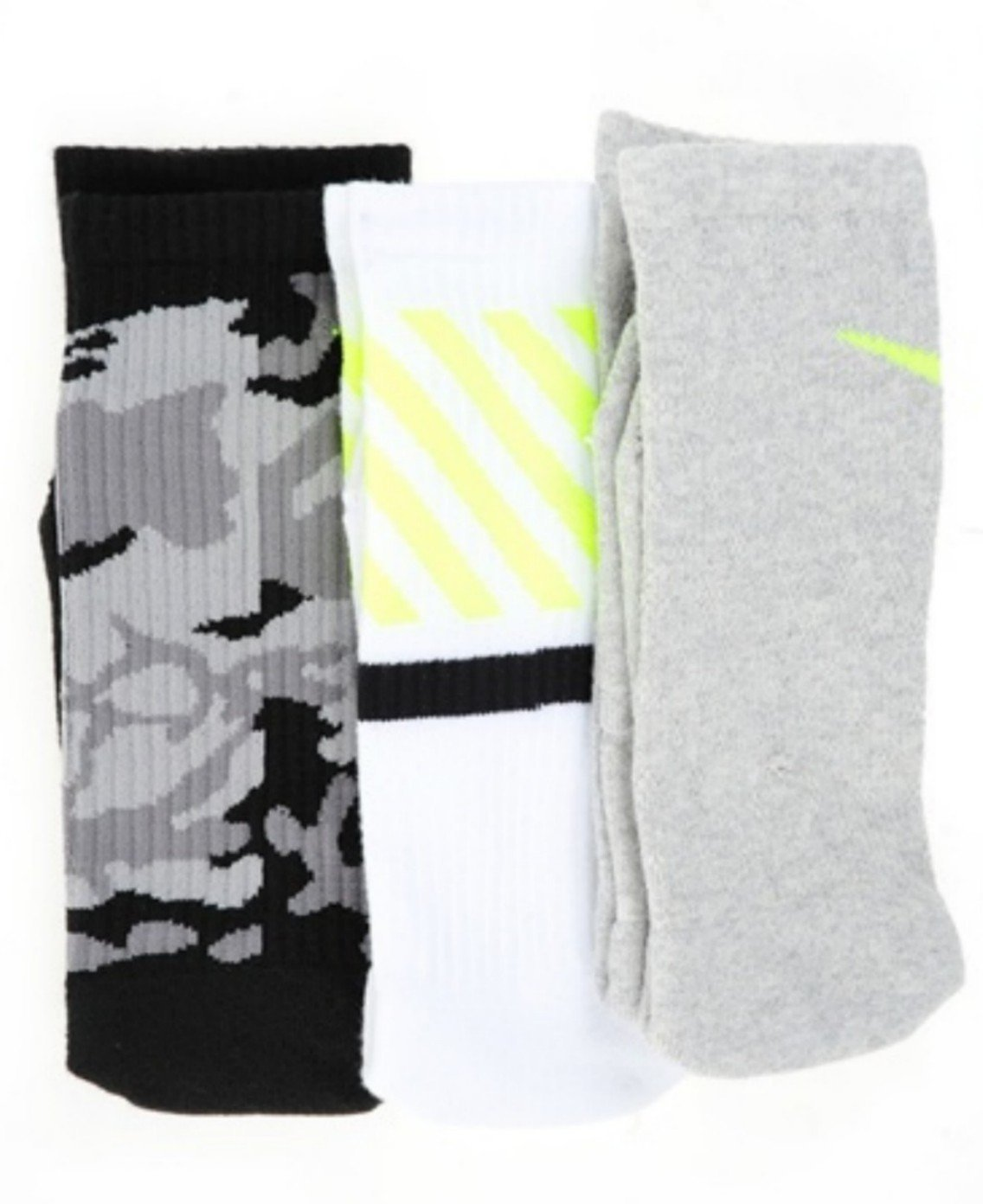 Haz un experimento víctima Maravilla  Buy NIKE Dri-Fit Cotton Cushioned Triple Fly Crew Socks 3 Pair Pack  (Camo-Black/Wolf Grey/White) MED in Cheap Price on Alibaba.com