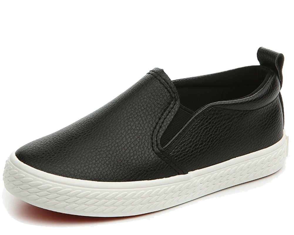 4fb58e6a3d7e8 Get Quotations · HiEase Kids Classic Low Top Slip Ons Leather Sneakers  Outdoor Casual Loafers Shoes (Toddler