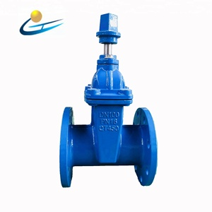 4 inch gate valve DN 100 Resilient Seated Cast Iron square nut operation gate valve underground water valve