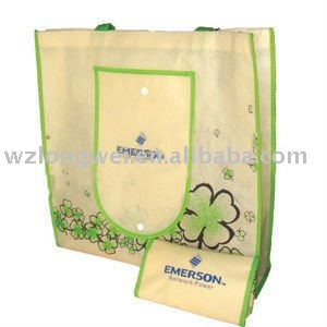 canvas foldable tote bag with outside pocket bag