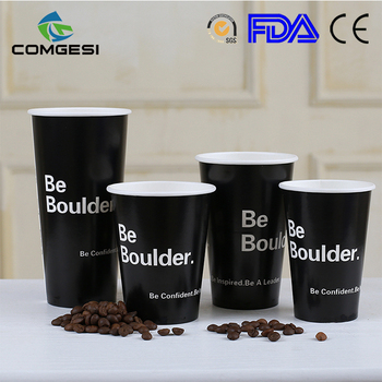Whole Bulk Custom Logo Color Double Single Style Hot Cold Paper Coffee Cup Disposable