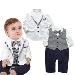 europe popular stripe boy clothing newest boutique cheap kids painting suit
