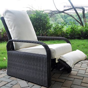 outdoor resin wicker patio recliner chair with cushions art to real patio furniture auto adjustable rattan sofa buy reclining chair with