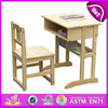Classical design school furniture for students,school furniture,student desk and chair set for children wj278314