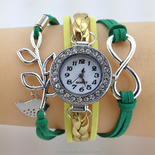 fashion charming jewelry wrap watches leather bracelet for women