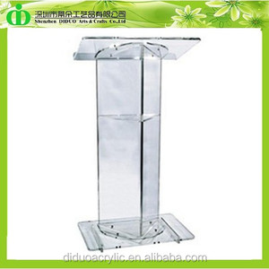 DDL-0052 Trade Assurance Alibaba China Supplier Wholesale Glass Church Lectern