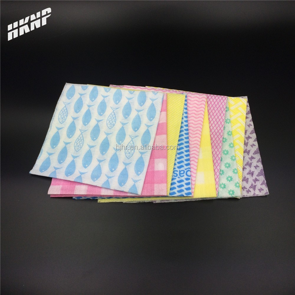 1112 dyed printed disposable spunlace nonwoven kitchen wiping cloth disposable cleaning wipes