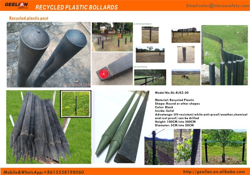 Australia and USA Customized 4inch Garden Plastic Composite Fence Post / recycled plastic horse post fence / Used farm fencing