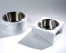 Natural marble bowl / white marble bowl / marble Pet bowl