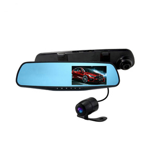 "4.3"" Dual Camera User Manual Hd 720P Car Dvr Camera Video Recorder Rearview Mirror Dash Cam With Usb2.0 interface"