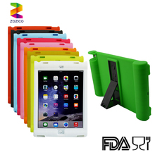 Silicone shock proof cover silicone kick standing case for ipad air 2
