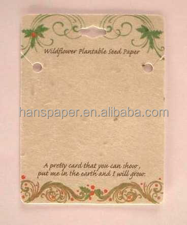 plantable seed paper wedding invitation card