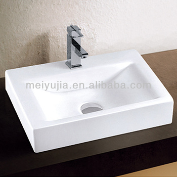 ceramic basin sanitary ware wash bathroom wash basin for the counter top instellation