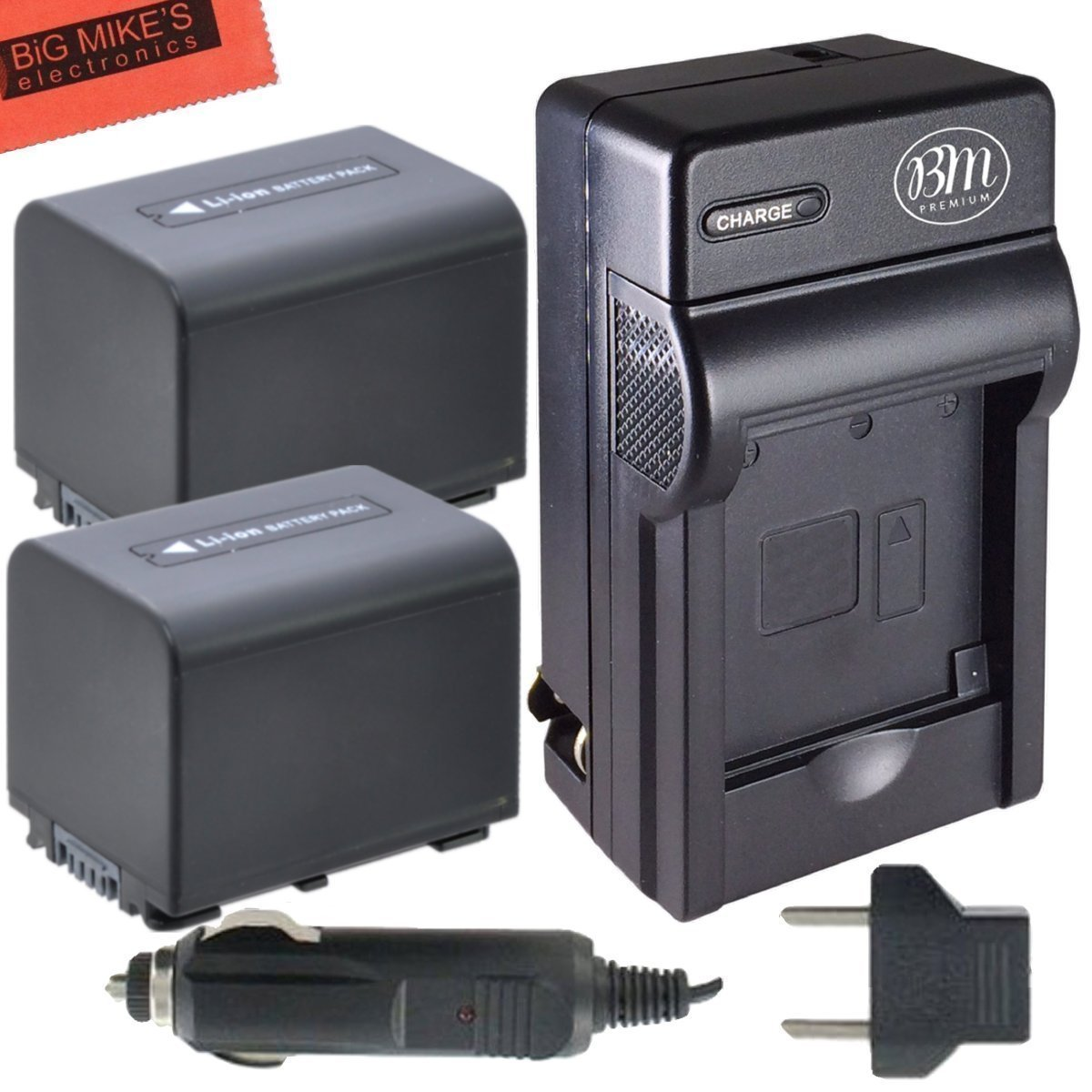 BM Premium Pack of 2 NP-FV70 Batteries & Charger Kit for Sony FDR-AX53 HDR-CX455/B HDR-CX675/B HDR-CX330 HDR-CX900 HDR-PJ340 HDR-PJ540 HDR-PJ670/B HDR-PJ810 FDR-AX33/B FDR-AX100 Handycam Camcorder