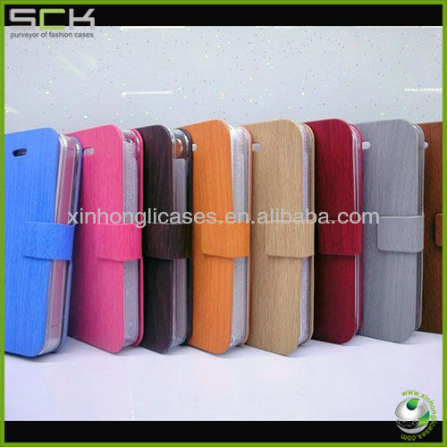 "For iphone 5 5"" wood grain leather case cover 8 colors avaliable"