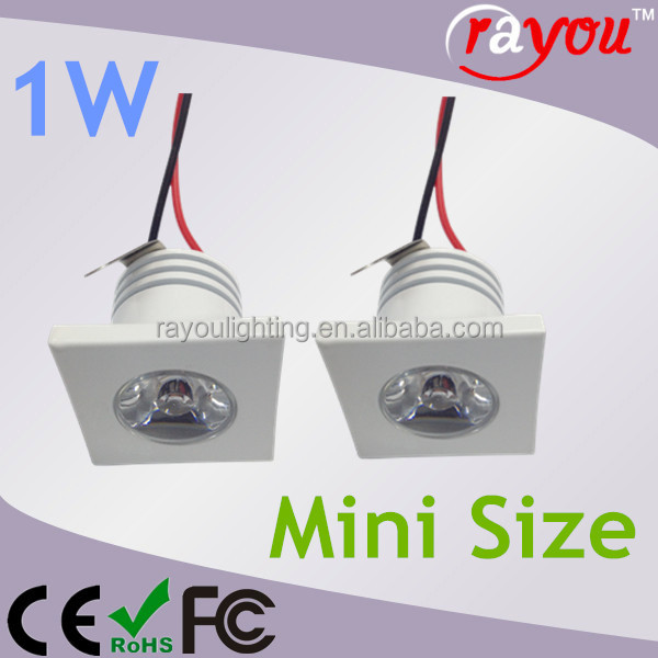 Recessed 1w mini led spotlight, 1W 3W mini spotlight square, dimmable led small light for decoration