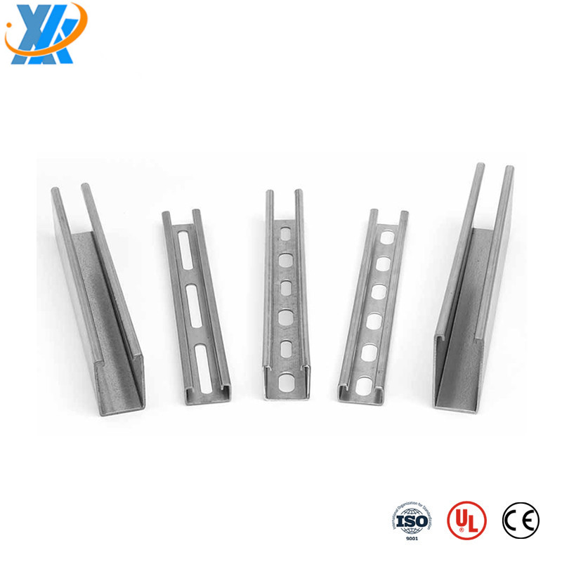 41*41 GI steel perforated unistrut c channel
