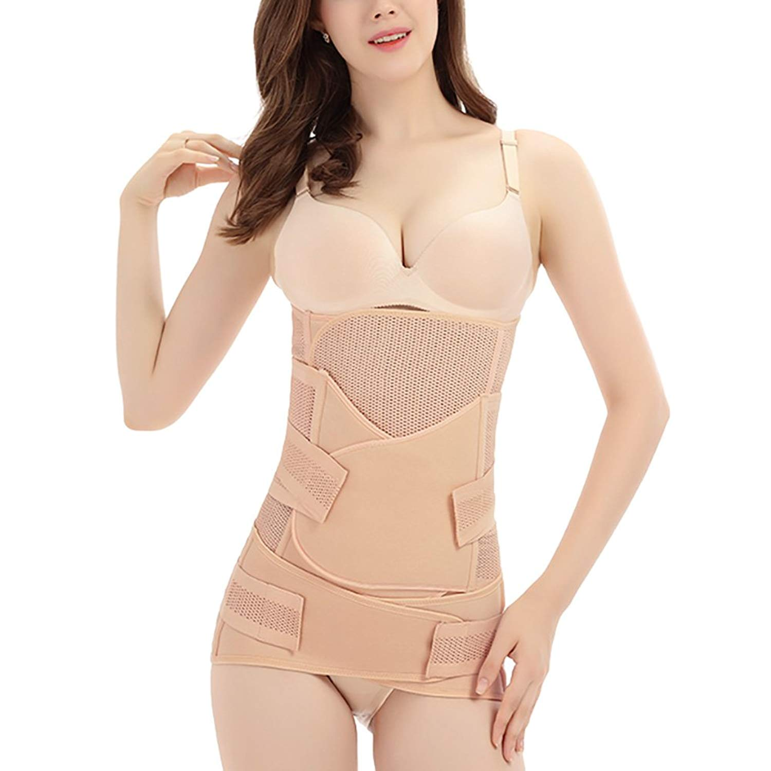 495a508a517 Get Quotations · Women Postpartum C-section Maternity Recovery Belly Band  Support Belt Wrap Girdle Body Shaper