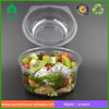 PET disposable hinged food containers salad box