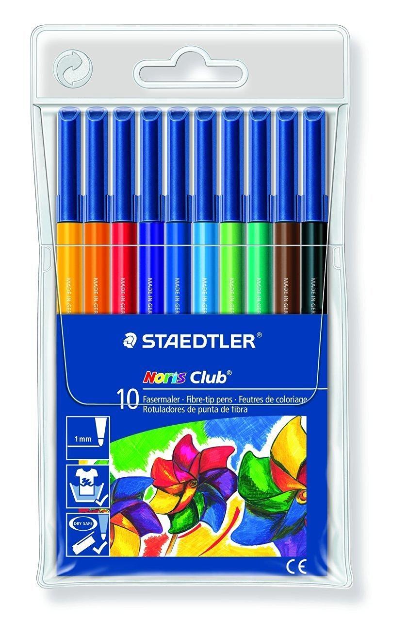 Staedtler 326 WP10 Noris Club Fibre-tip pens 10 Pens- 10 Packs of 10 Pens