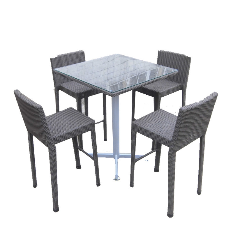 recyclable wicker poly rattan high bar table set for pubs used bar furniture for sale buy used. Black Bedroom Furniture Sets. Home Design Ideas