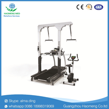 Electric walking training frame/Unweighting system with treadmill