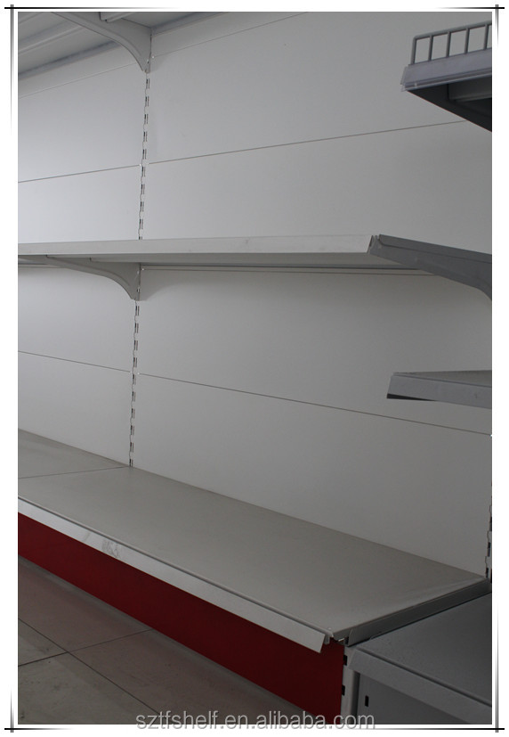 high quality competitive price heavy duty single-side grocery store shelf
