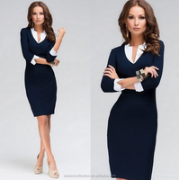 Ladies Office OL Career Dress Midi pencil bodycon Dress party autumn winter